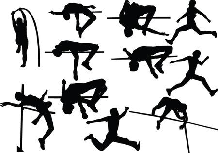 salto largo: atl�tico salto colecci�n - vector