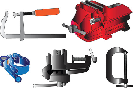 clamps collection - vector Vector