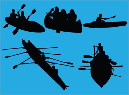 rowings collection - vector Vector