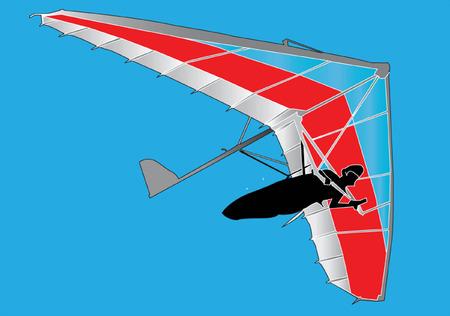 deltaplano - vettoriale