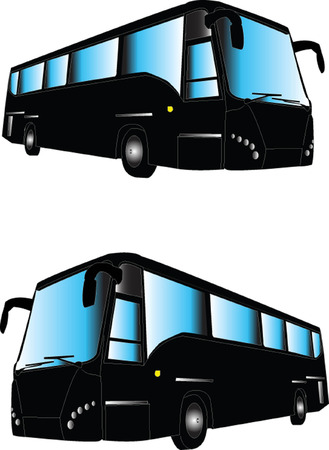 bus illustration - vector Vector