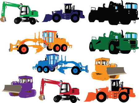 construction machine collection Stock Vector - 5500111