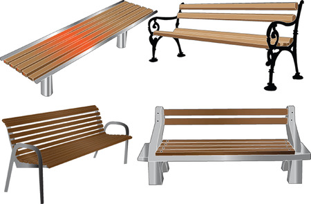 bench illustration - vector Stock Vector - 5500120