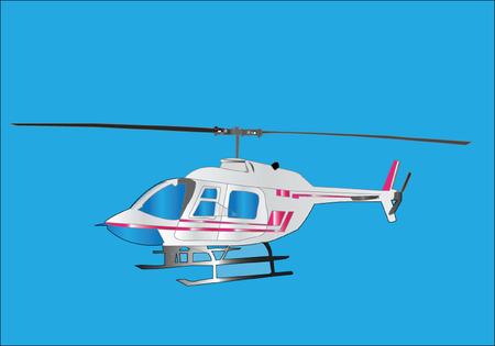 sikorsky: helicopter illustration - vector Illustration