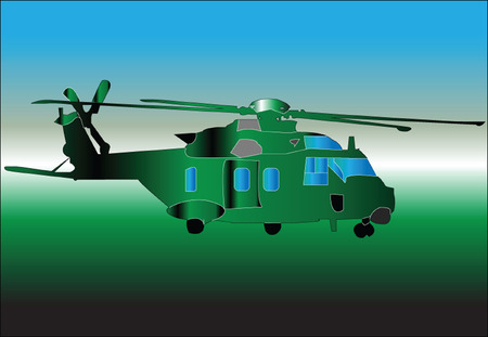 sikorsky: helicopter illustration - vector Illustration