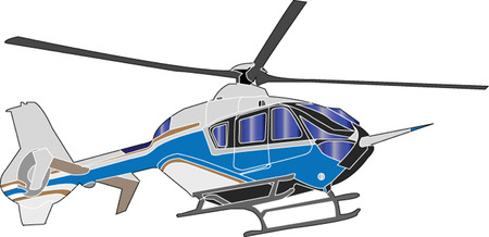 helicopter illustration - vector Vector