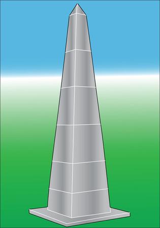 obelisco: obelisk silhouette