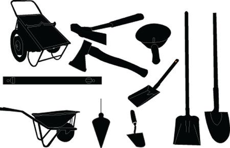 mason equipment collection Vector