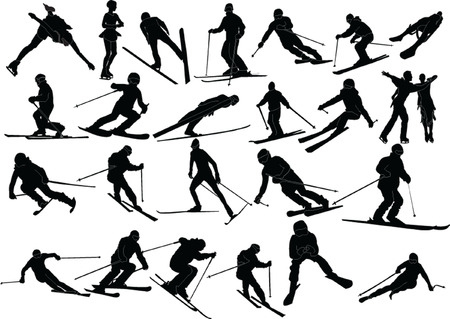 freestyle: winter sports silhouette