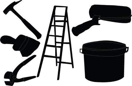 painter equipment - vector Vector