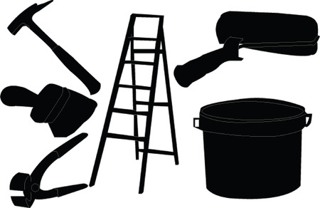 painter equipment - vector Vector