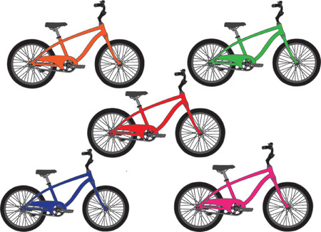 bicycle collection - vector Stock Vector - 6575441