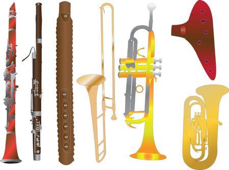fagot:  instrumenty dęte musical instrument - wektorowe