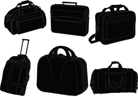 colección de bolsas de viaje - vectoriales