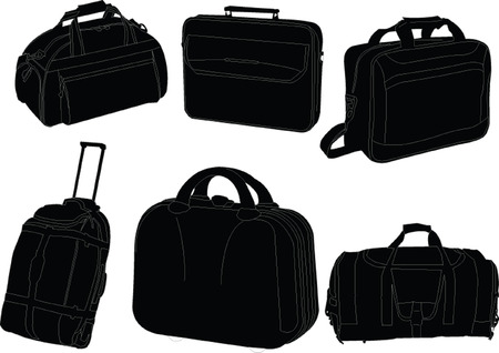 rucksacks:   travel bags collection - vector