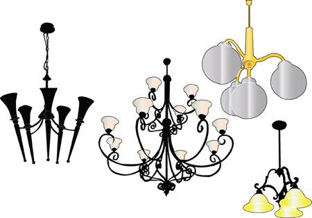 chandelier collection - vector Vector