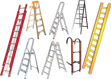 ladders collection Stock Vector - 6742474