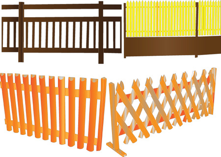 fences illustration collection Stock Vector - 6742470