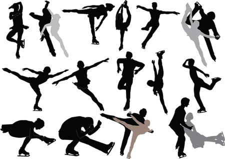 skaters: figure skating  Illustration