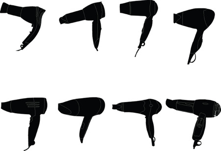 hair-dryer collection  Stock Vector - 6929270