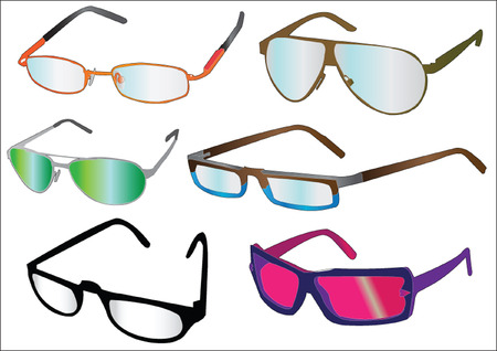 glasses collection Stock Vector - 6929279