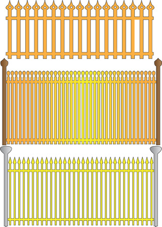 fences collection Stock Vector - 6929323