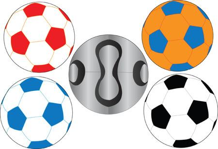 football ball collection Vector