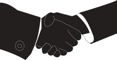 business hand shaking Vector