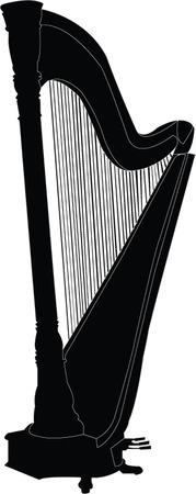 harp illustration Stock Vector - 7467698