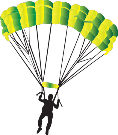nylon string: parachutist