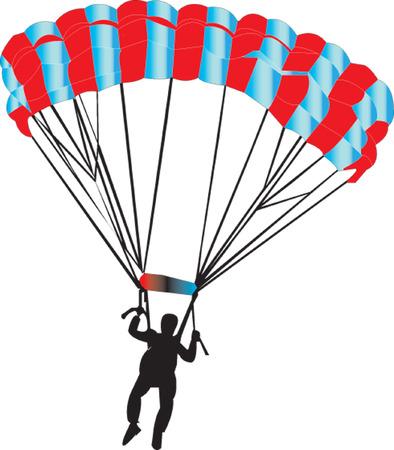 parachutist  Stock Vector - 7467706