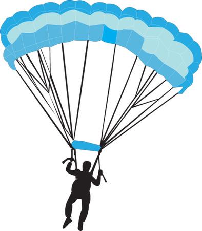 paracaidista  Ilustración de vector