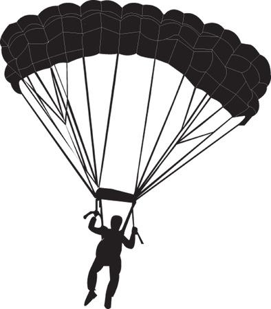deslizamiento: paracaidista  Vectores