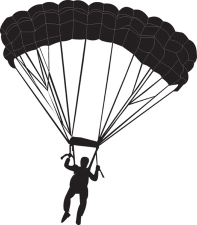 flying man: parachutist