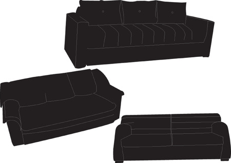 three-seater collection  Vector