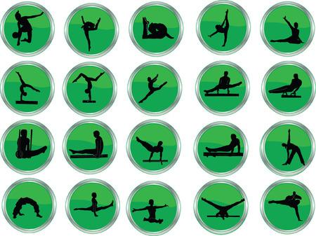 endurance: gymnastic button collection  Illustration