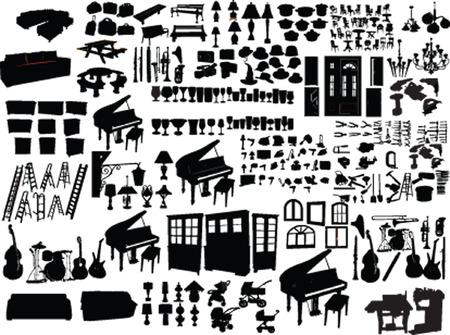 große Sammlung von home Elemente