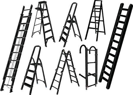 ladders collection - vector Illustration