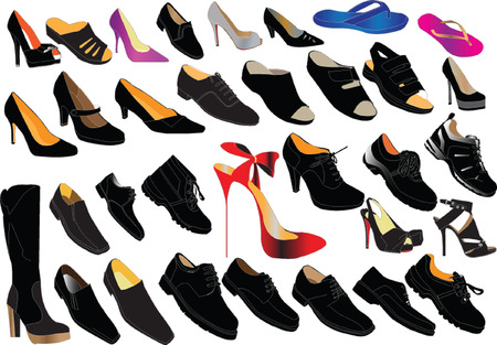 shoe collection - vector