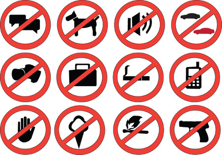 sign prohibiting - vector Stock Vector - 7689073