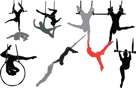 trapeze artists collection  Stock Vector - 7966202
