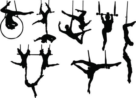 trapeze artiesten collectie  Vector Illustratie