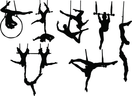 trapeze artists collection  Vector