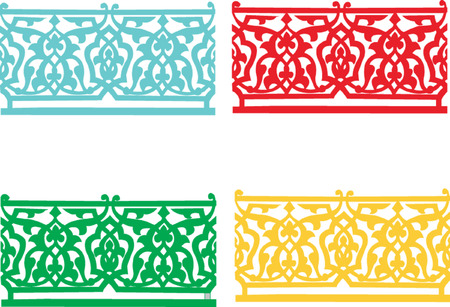 four colored ornament decoration  Stock Vector - 7966196