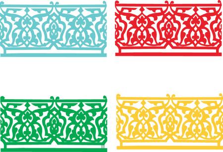 four colored ornament decoration Stock Vector - 7966196