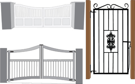 railings: gates collection - vector