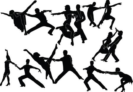 Latin-American dance - vector
