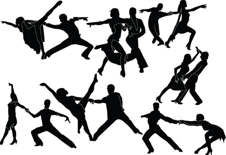 Latin-American dance - Vektor Standard-Bild - 8339975