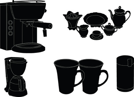 coffe garniture - vector Vector