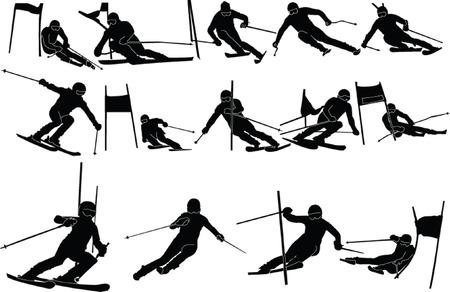 slalom: Narciarstwo colection - wektor